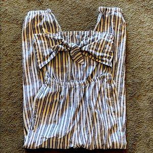 Aerie Striped jumpsuit, strapless